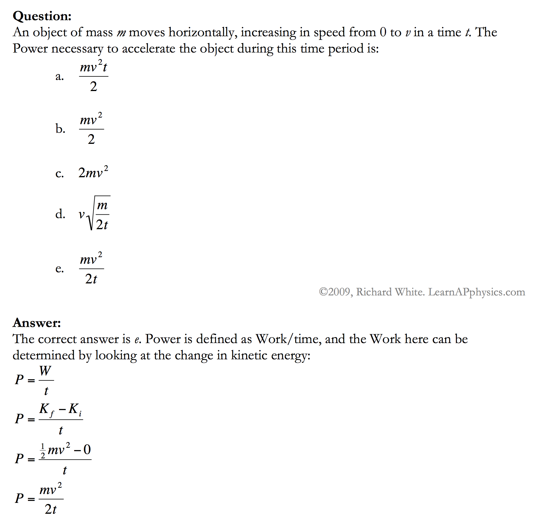 learn ap physics physics 1 and 2 work and energy solution