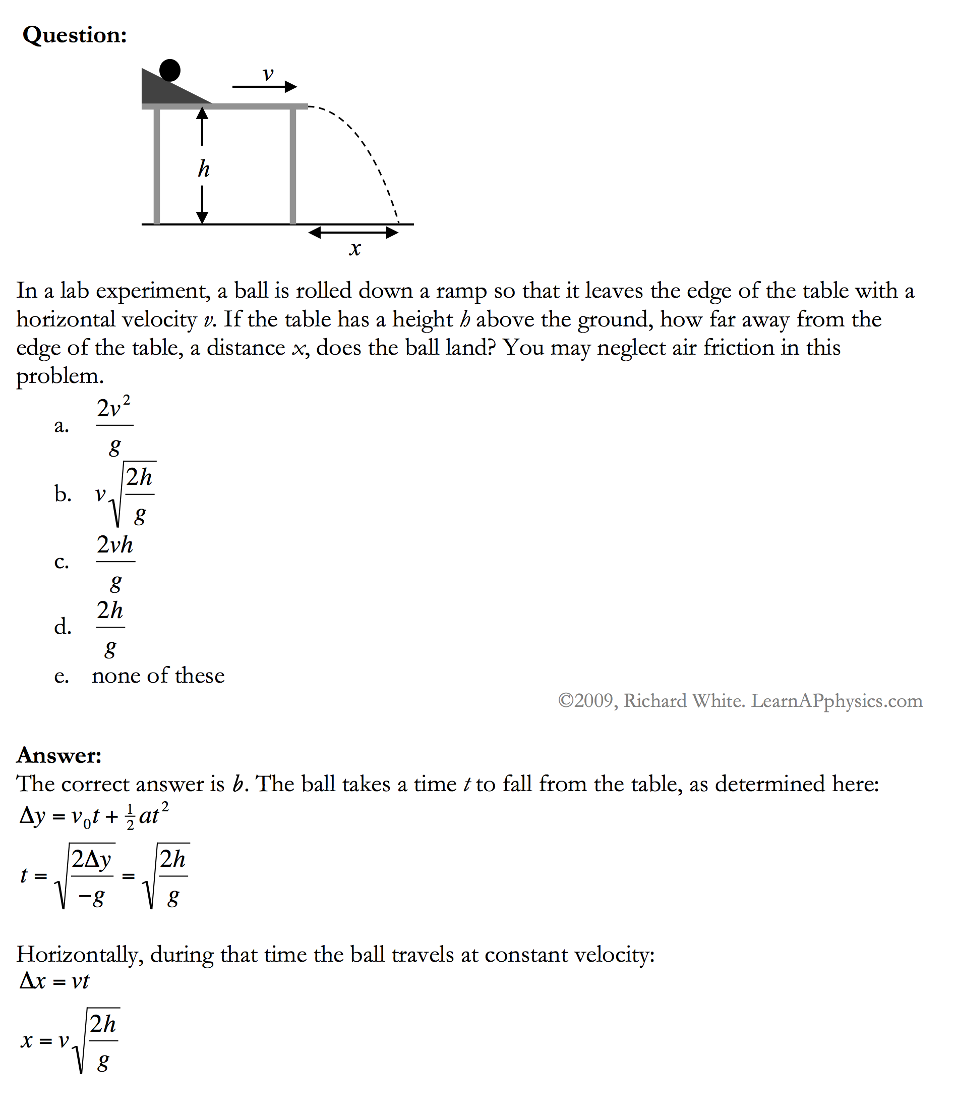 Learn AP Physics Physics 1 and 2 Kinematics – Kinematics Worksheet