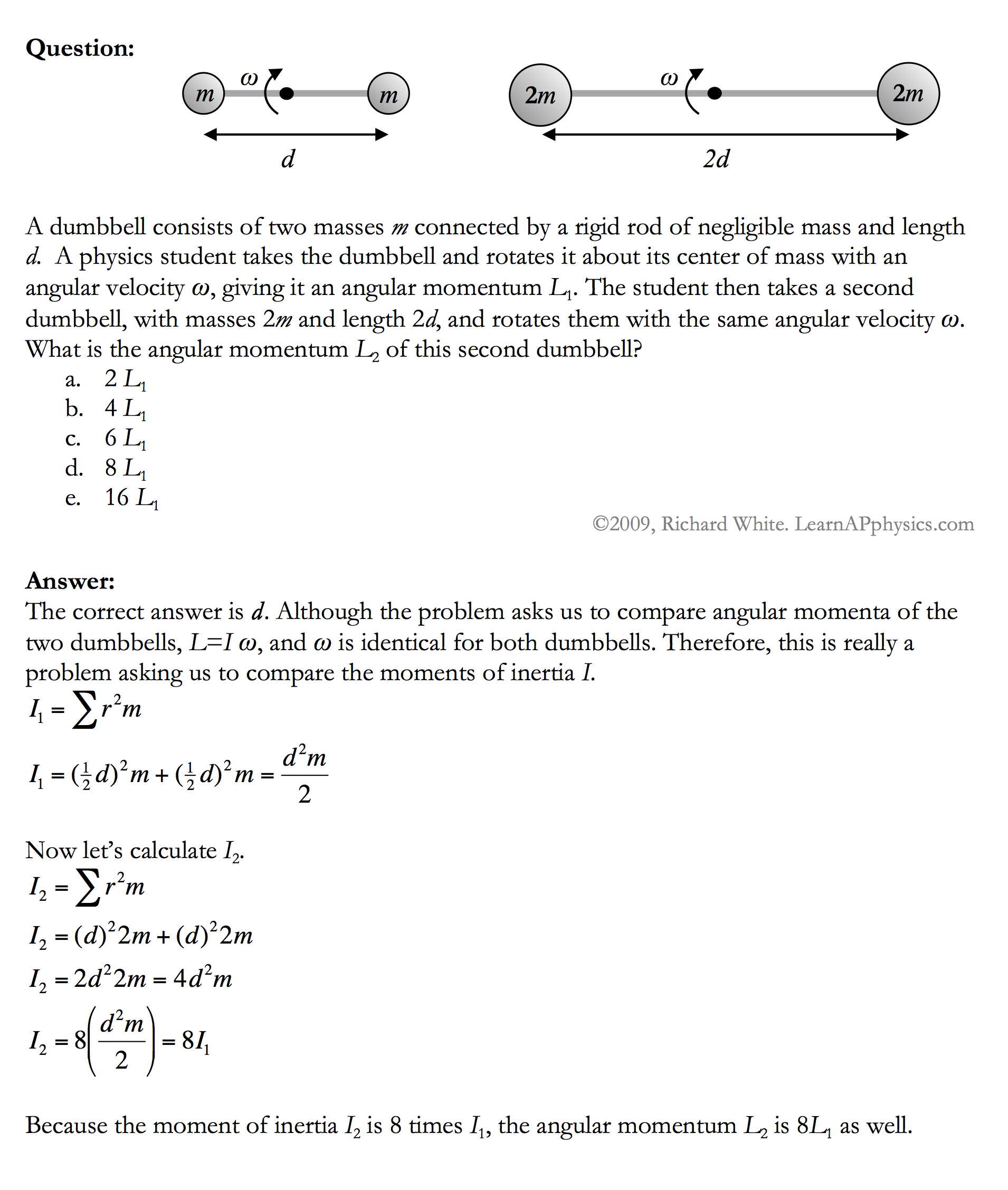 worksheet Physics Torque Worksheet learn ap physics c rotational motion solution