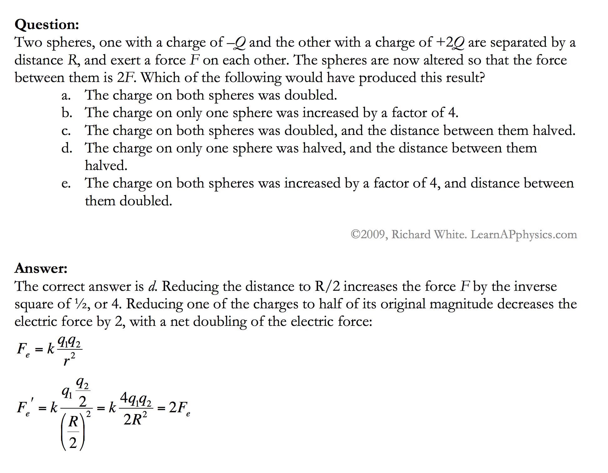 Learn AP Physics - AP Physics 1 & 2 - Electrostatics