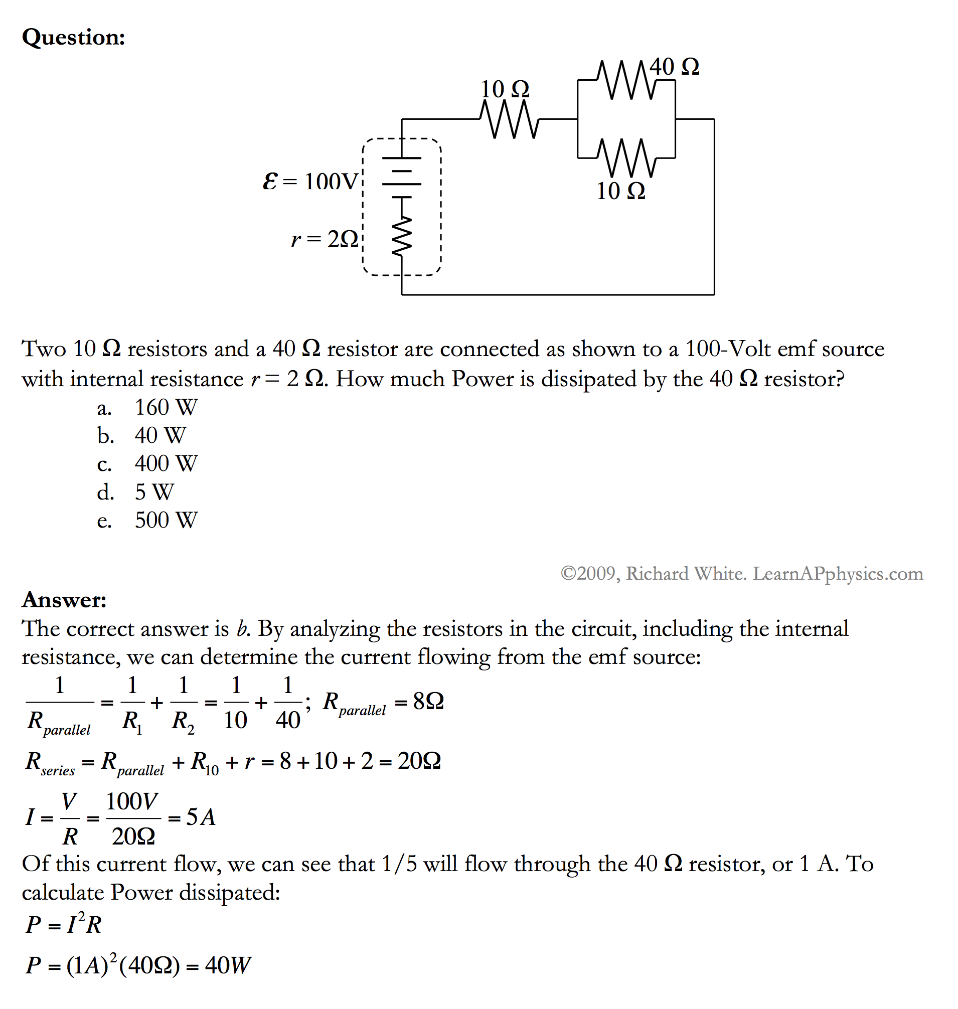 Learn Ap Physics C Circuits Power In Solution