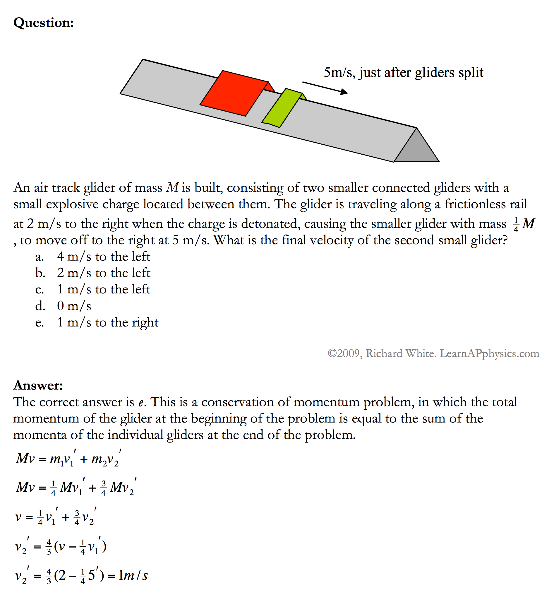 Worksheets Momentum Problems Worksheet learn ap physics 1 2 conservation of momentum solution