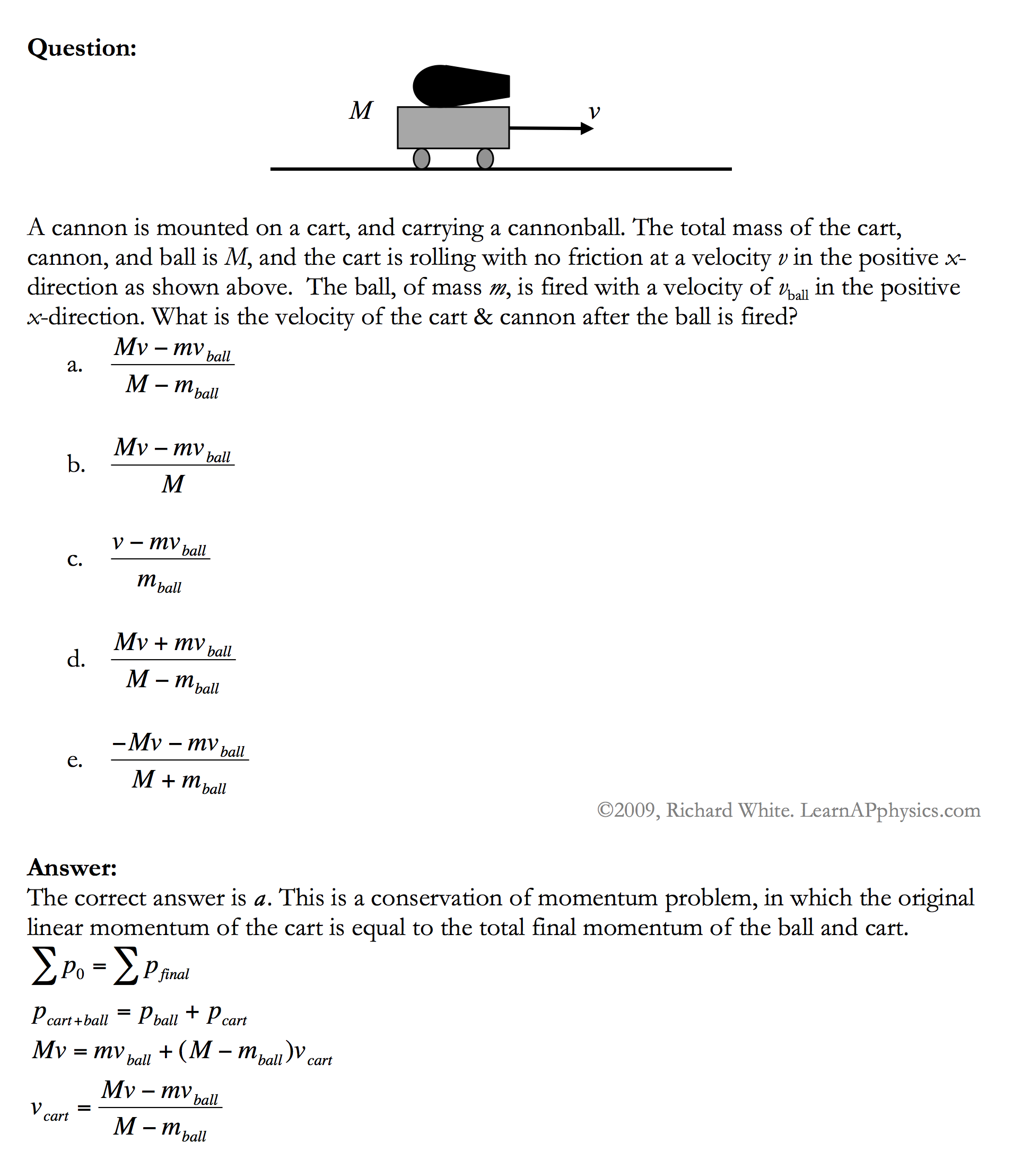 Learn Ap Physics Ap Physics 1 2 Conservation Of Momentum
