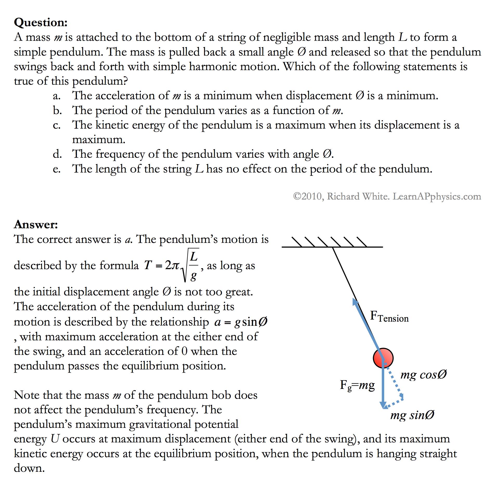 Learn AP Physics - AP Physics 1 & 2 - Oscillatory Motion