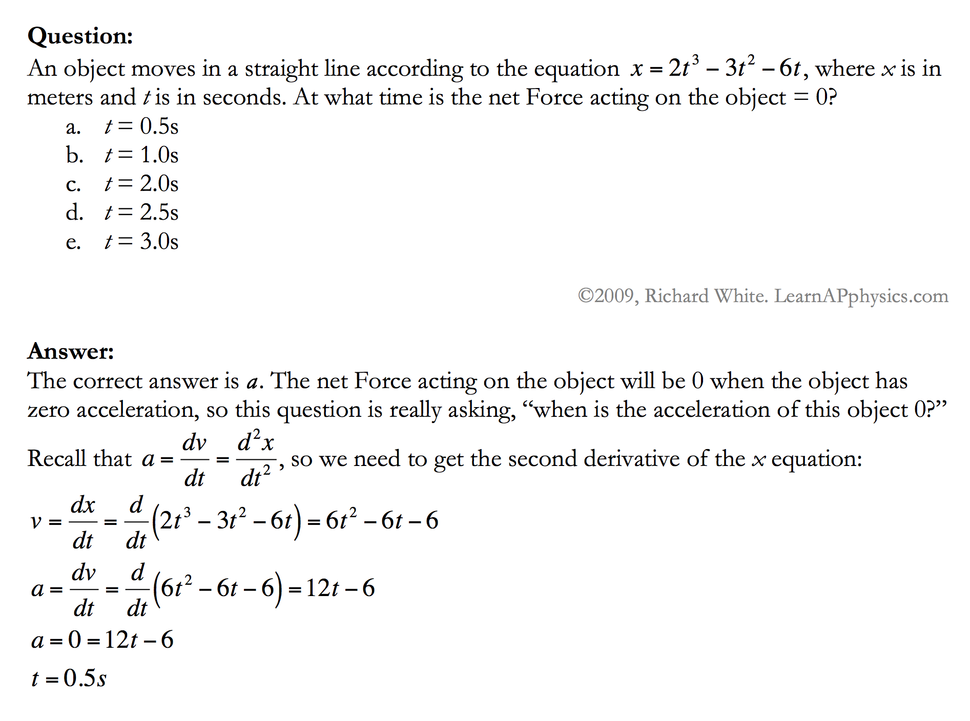 Learn AP Physics - Kinematics