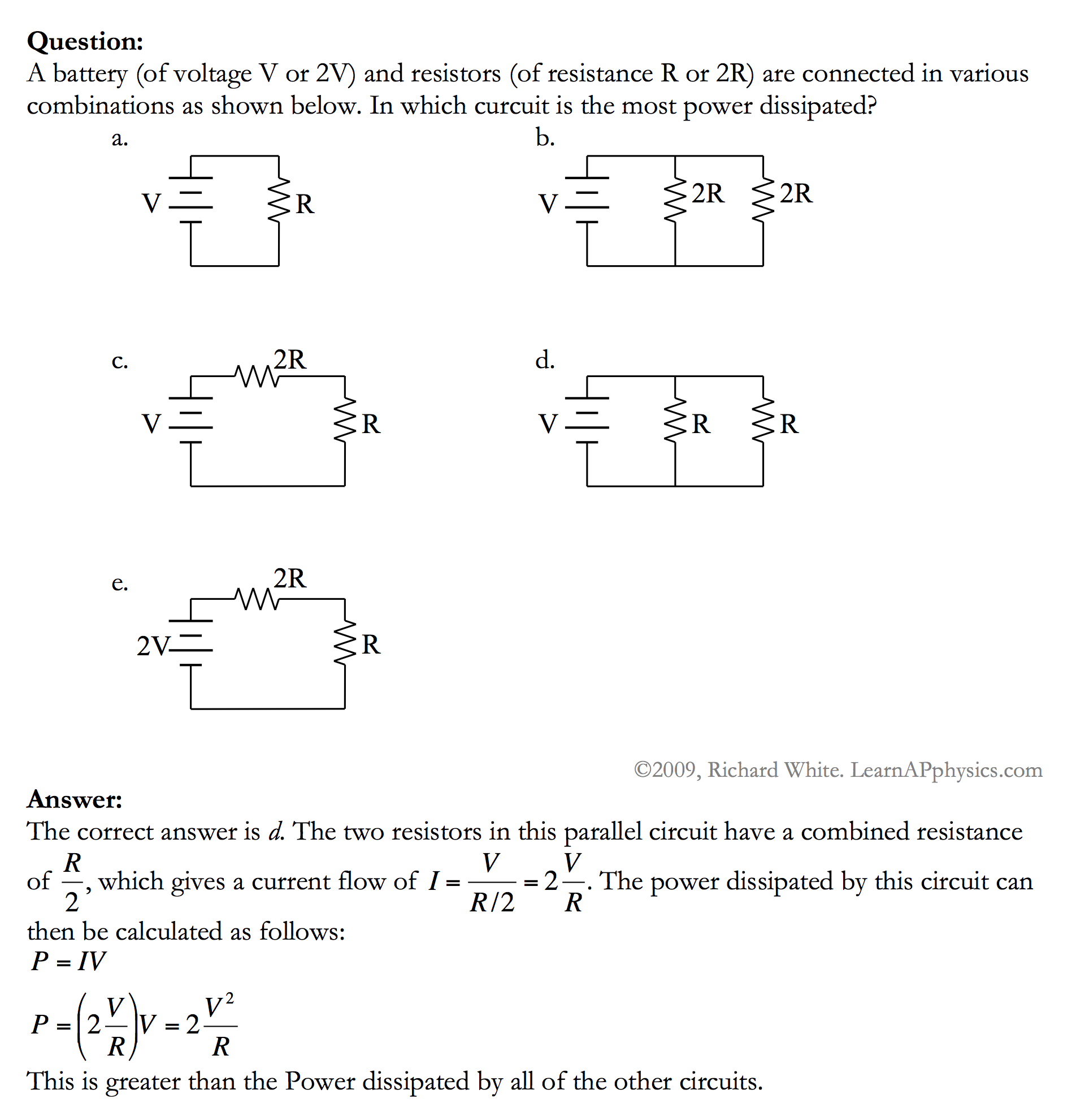 Learn Ap Physics C Circuits Current Flow In A Circuit Solution